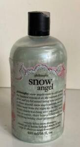 NEW! PHILOSOPHY SNOW ANGEL SHAMPOO, SHOWER GEL & BUBBLE BATH 480ML SALE