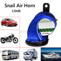 Universal 12V Truck Motorcycle Snail Air Horn Siren Loud 130dB Waterproof Metal