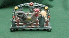 CAST IRON LETTER RACK WITH ROOSTER DECORATION