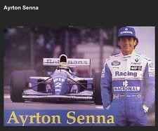 Ayrton Senna Formula 1 Nacional / Rothmans Rare Car Poster WOW!!