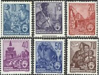 DDR 453-458 (kompl.Ausgabe) Wasserzeichen 2 gestempelt 1955 Fünfjahresplan