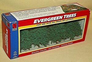 TRAIN TREES LOT 4 EVERGREEN NEW SEALED LIFE LIKE SCALE HO N S O ITEM NO 1003.