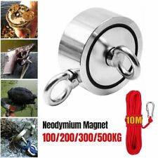 100kg220lb Fishing Big Magnet Kit Pulling Force Strong Neodymium With 10m Rope