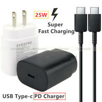 US 25W Super fast charging Type C PD wall charger cable For Samsung Note 10 10+