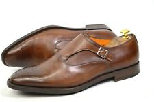 Santoni MONK made in Italy shoes mens UK 9 / US10 / EU 43 oxfords patina loafers