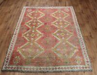 Traditional Vintage Wool Handmade Classic Oriental Area Rug Carpet 212X 147 cm
