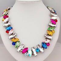 Spectacular Vintage Tutti-Frutti Multi Coloured Statement Collar Necklace