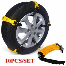 10Pcs Car Snow Tire Chains Beef Tendon VAN Wheel Tyre Anti-skid TPU Chains Set