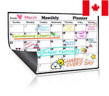 Easy to Write and Wipe Magnetic Large Refrigerator Whiteboard Calendar Planner