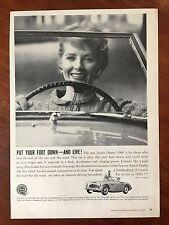 Vintage 1959 Original Print Ad BMC Austin Healey 3000 Convertible Sports Car
