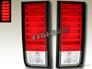 03 04 05 06 07 08 09 HUMMER H2 SUV LED TAIL LIGHTS RED PAIR