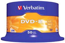 50 DVD-R VERBATIM 16X 4.7GB CAMPANA 50PZ 43548