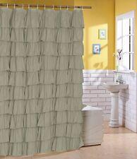 Flamenco tiered ruffle shower curtain bath