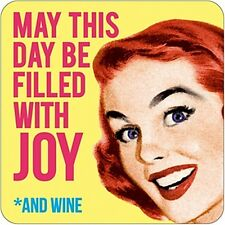May This Day Be Filled With Joy And Wine funny drinks mat / coaster    (dm)