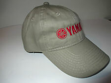 New Authentic Yamaha 100% Cotton Khaki Hat with Red Yamaha Logo