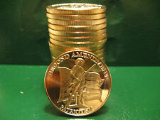 "20 ""2nd Amendment Patriotism"" 1oz .999 Copper 20 beautiful rounds 1 Roll in Tube"