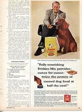 1965 Friskies Mix Capt. J. King Ross Dog Food Print Ad