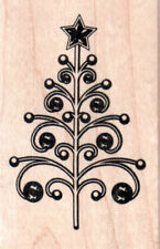 NEW INKADINKADO RUBBER STAMP Christmas ORNATE BEADED Tree Free USA ship