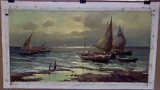 Seascape Oil on Canvas Painting signed: Guido Corradini