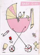 Nuevo! Lem Art Grupo tarjeta y sobre saludos nacimiento New Niñera, Baby Girl