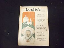 1919 AUGUST 9 LESLIE'S WEEKLY MAGAZINE - COCA COLA AD BACK COVER - ST 2253