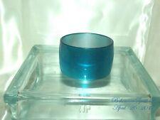 Vintage Style Awesome Aqua Blue Cat Eye Plastic Wide 2'' thick Bangle Bracelet
