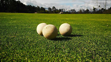 Vintage Polo Balls Bamboo Wood Pulp Classic Outdoor Prop Display Gift 10 Balls