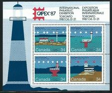 1987 Canada, CAPEX87 - Lighthouses Mini Sheet MNH
