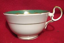 Vintage Aynsley Porcelain Cup 21017 gorgeous green and gold rose pattern