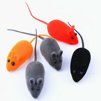 2X Funny Rat Playing Toy Cute Mouse Squeak Sound For Cat Kitten Pet Play Toys U