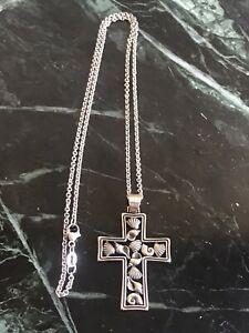 James Avery Seashell Cross pendant w/JA Chain Necklace Retired!