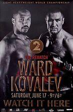 SERGEY KOVALEV vs. ANDRE WARD (2) Original Full-Size HBO PPV Boxing Fight Poster