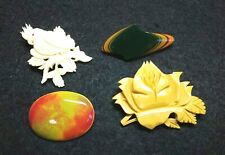 Vintage Japanese Accessories Brooch 4 items �谷 Kutani 堆朱 Tsuisyu Other #1367-2