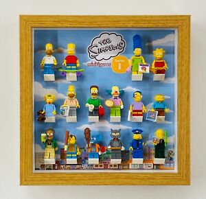 Display Frame for Lego Simpsons Series 1 minifigures 71005 no figures 25cm