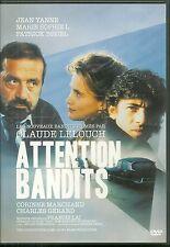 DVD - ATTENTION BANDITS avec PATRICK BRUEL J YANNE / CLAUDE LELOUCH / COMME NEUF