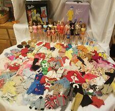 New ListingLot of Vtg Barbie Midge Ken Allen Skipper Skooter Ricky 60's Cases Dolls Clothes