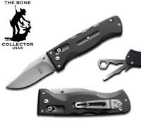 Bone Collector Heavy Duty Pocket Knife w/ G-10 Black Handle & Tools BC831BK