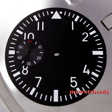 38.9mm black dial fit 6497 seagull movement Watch Case Luminous marks D01
