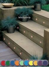 OUTDOOR Kit of 10 19mm Colour Changing LED Recessed/Stair/Deck/Step Light