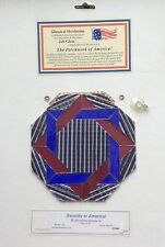 PRE CUT STAINED GLASS KIT Security In America JOB GLASS Stained Glass Supplies