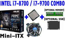 Intel i7-8700 i7-9700 CPU+ASUS M.2 LGA1151 Mini-ITX Motherboard+DDR4+SSD COMBO