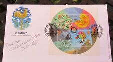 FDC signed Jules Reinger, BBC Look East Weather forecaster, cover dated 13/3/01