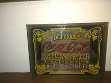 Vintage Coca Cola Mirror ideal Man Cave Accessory for the Bar