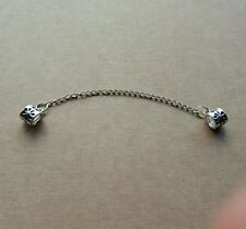 Beautiful 925 silver screw hole safety chain charm bracelet free gift bag UK !!!