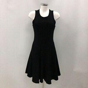 New Alexander McQueen A-Line Swing Dress Size M Short Black Occasional 031019
