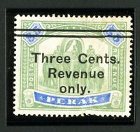Perak Stamps # 67 VF Unused Overprint Rarity Revenue Only Few Faults