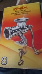 Porkert Meat Grinder  ~ Complete Original !! (Never used! Really!)