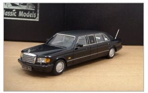 1/43 Mercedes-Benz W126 Series 1000SEL Limousine 1986 (Black/Black leather top)