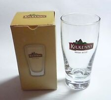 "KILKENNY BEER Mini Short GLASS Clear 2010 Shot 3.5"" Tall Malaysia Asia Collect"