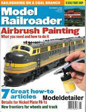 Model Railroader Nov.1998 Airbrush Painting Nickel Plate PA-1 Coal Track Wheels